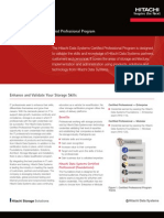 Datasheet Hitachi Data Systems Certifications
