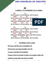 CANCIONERO CANTOS DE ASAMBLEA DE ORACIÓN