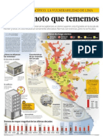 Mapa de zonas vulnerables de Lima.