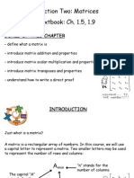 Matrices - Ch. 1.5, 1.9