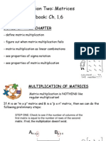 Matrices - Ch. 1.6