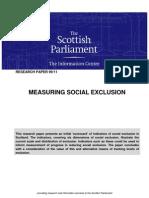 Measuring Social Exclusion