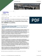 La UAZ Pionera en NanotecnologÍa en América Latina