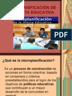 MICROPLANIFICACIÓN DE LA OFERTA EDUCATIVA