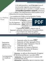 4.1 política fiscal