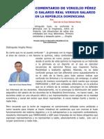 RESPUESTA AL COMENTARIO DE VIRGILIO PÉREZ   EN LO   RELATIVO SALARIO REAL VERSUS SALARIO  NOMINAL EN LA REPÚBLICA  DOMINICANA