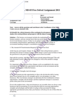 IGNOU MBA MS-03 Free Solved Assignment 2011