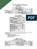 Analisis_FINANCIEROS Ejercicios