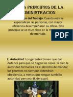 Los 14 Principios de La Admin is Trac Ion
