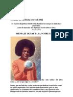 Mensaje de Sai Baba Sobre El 2012