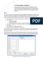 Java Programming Assignment