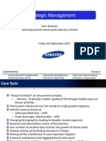 Case Analysis Strategic Management Samsung and the Theme Park Industry in Korea [download to view full presentation]