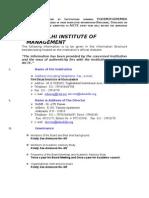 PGDM Mandatory Disclosure