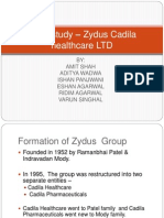 Case study – Zydus Cadila healthcare LTD