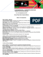 III CONFERENCIA LATINOAMERICANA y I CONFERENCIA MEXICANA SOBRE POLÍTICAS DE DROGAS