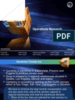 Case Analysis Operations Research Sunshine Tomato Inc [Download to View Full Presentation]
