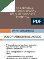 25. DOLOR ABDOMINAL AGUDO QUIRÚRGICO Y NO QUIRÚRGICO EN