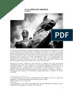 Andrés Townsend. Comentarios a la Carta de Jamaica de Simón Bolivar