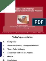 Andrea Colantonio - Social Sustainability