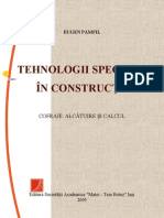 Tehnologii speciale in constructii. Cofraje - alcatuire si calcul - Eugen Pamfil, Iasi 2005
