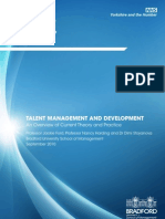 Talent Management and Development an Overview of Current Theory and Practice