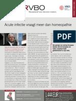 Acute infectie vraagt meer dan homeopathie, Infor VBO 25, 1 september 2011