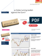 Is the Dollar Euro Turning Bullish?  2nd September 2011(Ig)