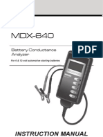 167-033A MDX-640 Instruction Manual Midtronics En