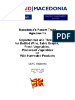 Macedonia's Recent Trade Agreements on Macedonia Trade Agreements Report, April 2008