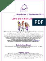 Newsletter 1st September 2011