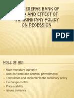 FA (RBI and Its Monetary Policy)