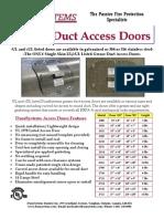 DuraSystems - Grease Duct Access Doors Brochure
