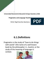 Pragmatics and Language Teaching