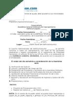 Modelo Convocatoria Asamblea PH