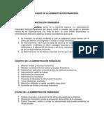 GENERALIDADES DE LA ADMINISTRACIÓN FINANCIERA