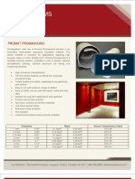 DuraSystems - Promat Promasound Acoustical Brochure