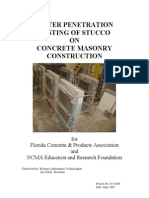 Water Penetration Testing of Stucco Report