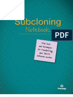 Sub Cloning Notebook Euro