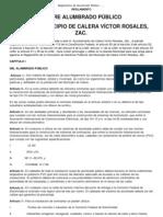 Reglamento de Alumbrado Público zacatecas