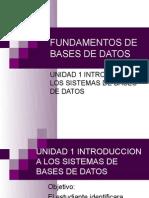 Fund de Bd Unidad 1