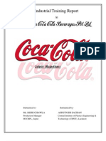 Coca Cola Ashutosh Sachan Training Report
