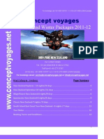 Concept Voyages' New Zealand Winter Packages 2011-12