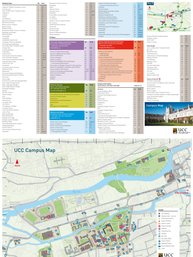 Ucc Campus Map Edition1 2010 New Science And Technology Health