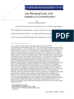 Wagner FRC Article Sharia vs Constitution