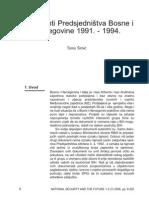 Dokumenti Predsjedništva BiH 1991.-1994.