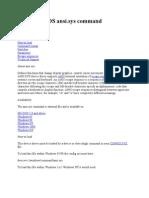 Microsoft DOS Ansi