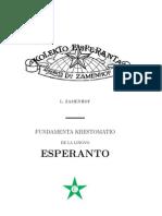 Zamenhof, Ludwik Lazar - La Fundamenta Krestomatio de La Lingvo Esperanto - Esperanto Language