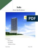 Writing Sample 2 - Real Estate - Seeking Potential Investors - Our Solis Presentation