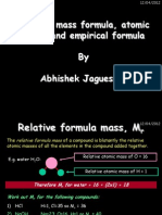 Mass Formula Atomic Mass and Empirical Formula by Abhishek Jaguessar