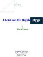 E. J. Waggoner - Christ and His Righteousness
